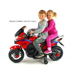 Elektrická dvoumístná motorka Topspeed, červená