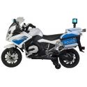 Dětská elektrická motorka BMW R 1200RT, stříbrná policie Německa