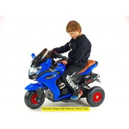 Motorka Dragon s plynovou rukojetí, gumová nafukovací kola, modrá