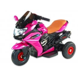 Motorka Dragon s plynovou rukojetí, gumová nafukovací kola, růžová