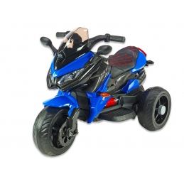 Cestovní motorka BNM s plynovou rukojetí, EVA kola, modrá