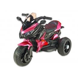 Cestovní motorka BNM s plynovou rukojetí, EVA kola, růžová