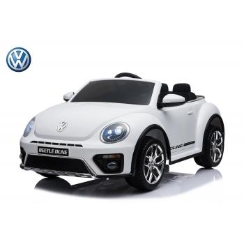 Dětské elektrické autíčko Volkswagen Beetle Dune cabrio s 2,4G, bílý