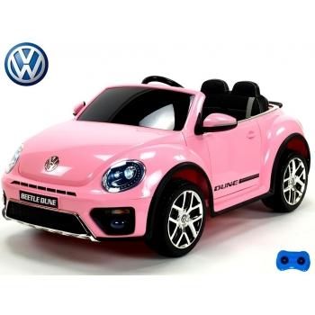 Elektrické autíčko Volkswagen Beetle Dune cabrio s 2,4G, růžový