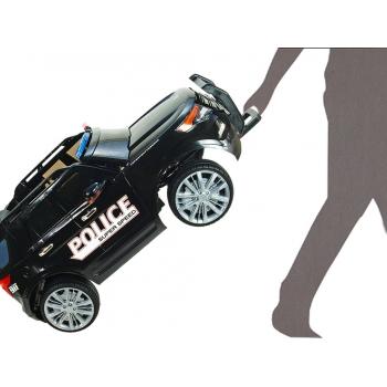 Elektrické auto USA policie s 2,4G, megafon, policejní LED a zvukové efekty, bílé