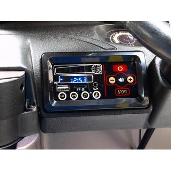 Elektrické autíčko Toyota Hilux Rugged-X s 2.4G, 4x4, dvoumístná, šedostříbrná metalíza